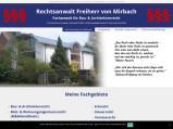 Vorschau: Rechtsanwalt Gunther Freiherr von Mirbach Fachanwalt für Bau- & Architektenrecht