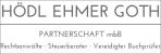 Logo: HÖDL EHMER GOTH Partnerschaft mbB Rechtsanwälte Steuerberater Vereid. Buchprüfer RA/StB/vBP Peter Goth   RA Florian Hödl   RA Julia Ehmer