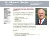 Vorschau: Rechtsanwalt Dr. Johannes Mauder    Johannes Mauder