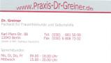 Vorschau: Dr. med. Hans-Joachim Greiner Facharzt für Frauenheilkunde u. Geburtshilfe