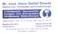 Logo: Dr. med. Hans-Detlef Dewitz Ihre Orthopädie in Wilmersdorf