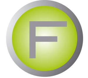 Logo STUDIO F autorisiertes Power Plate® Center