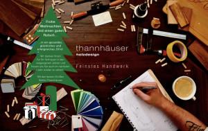 Logo Thannhäuser Holzdesign - feinstes Handwerk -