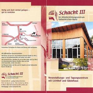 Tagungs- und Gästehaus Schacht3 - Info-Broschüre
